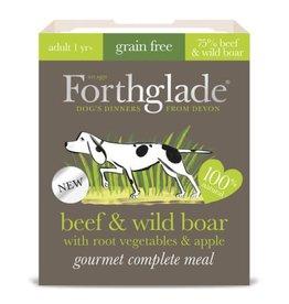 Forthglade Gourmet Grain Free Beef & Wild Boar Adult Wet Dog Food, 395g