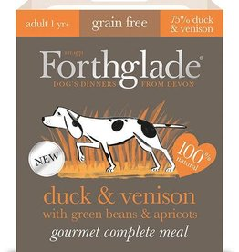 Forthglade Gourmet Grain Free  Duck & Venison Adult Wet Dog Food, 395g