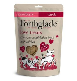 Forthglade Hand Made Love Dog Treats with Chicken, Strawberry & Carob 150g