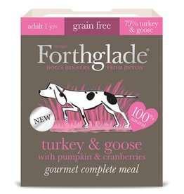Forthglade Gourmet Grain Free Dog Complete Meal Turkey & Goose 395g