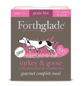Forthglade Gourmet Grain Free Turkey & Goose Adult Wet Dog Food, 395g