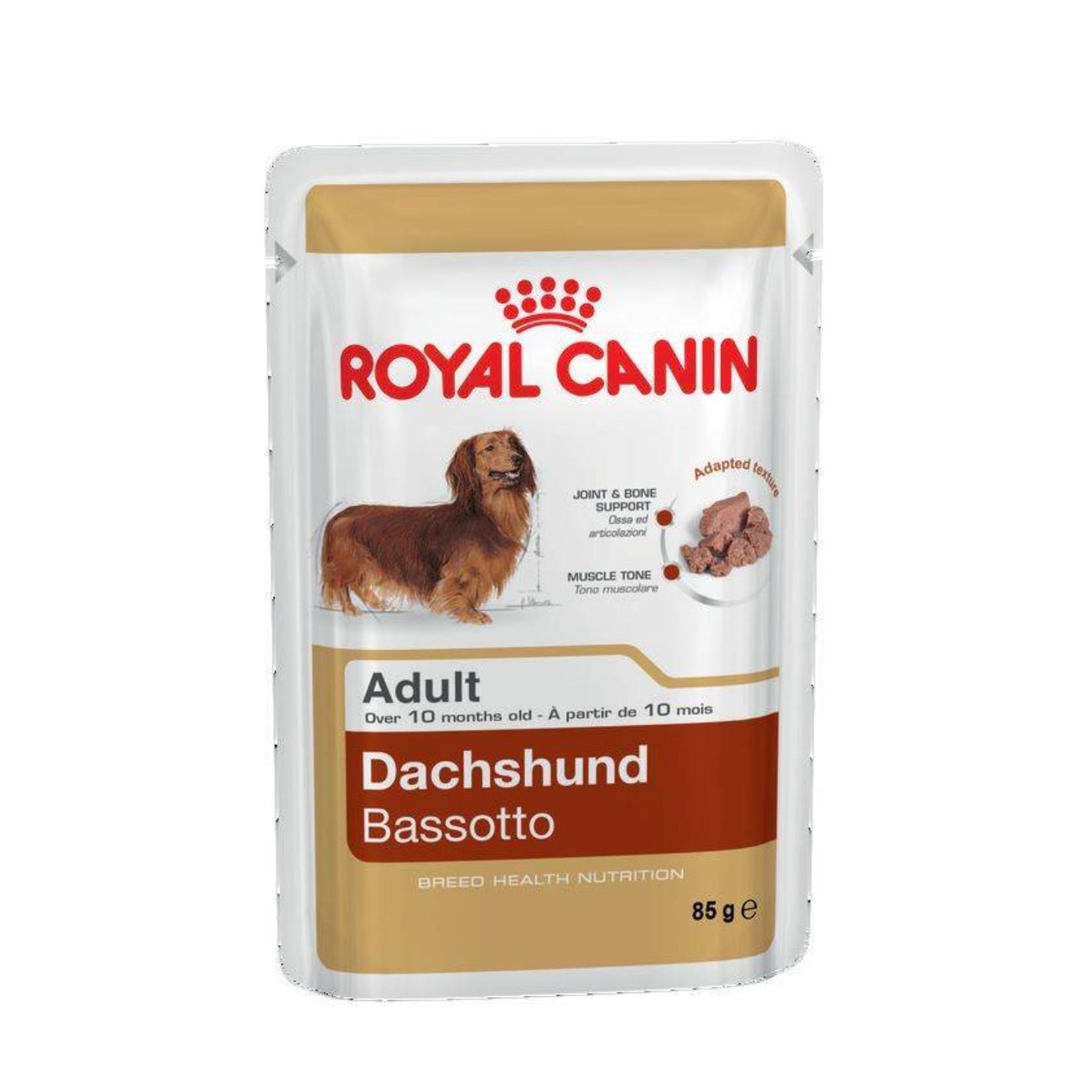Royal Canin Dachshund Adult Dog Wet Food Pouch 85g