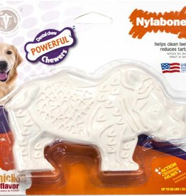 Nylabone Dental Chew Rhino Chicken Dog Chew Medium