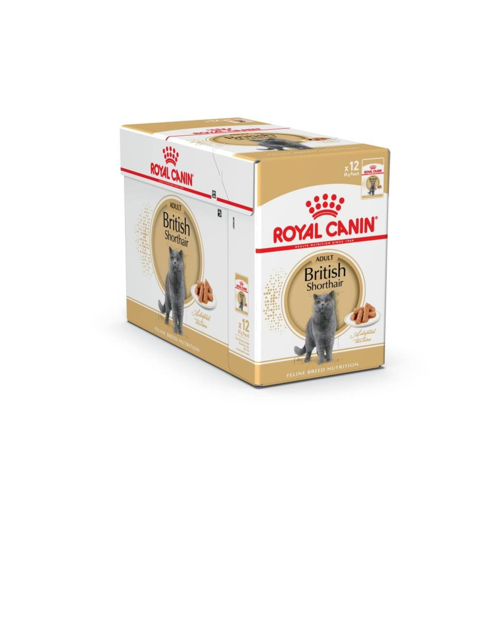 Royal Canin British Shorthair Adult Cat Wet Food Pouch in Gravy, 85g, box of 12