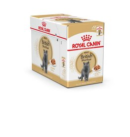 Royal Canin British Shorthair Cat Pouch in Gravy Wet Cat Food 85g, Box of 12