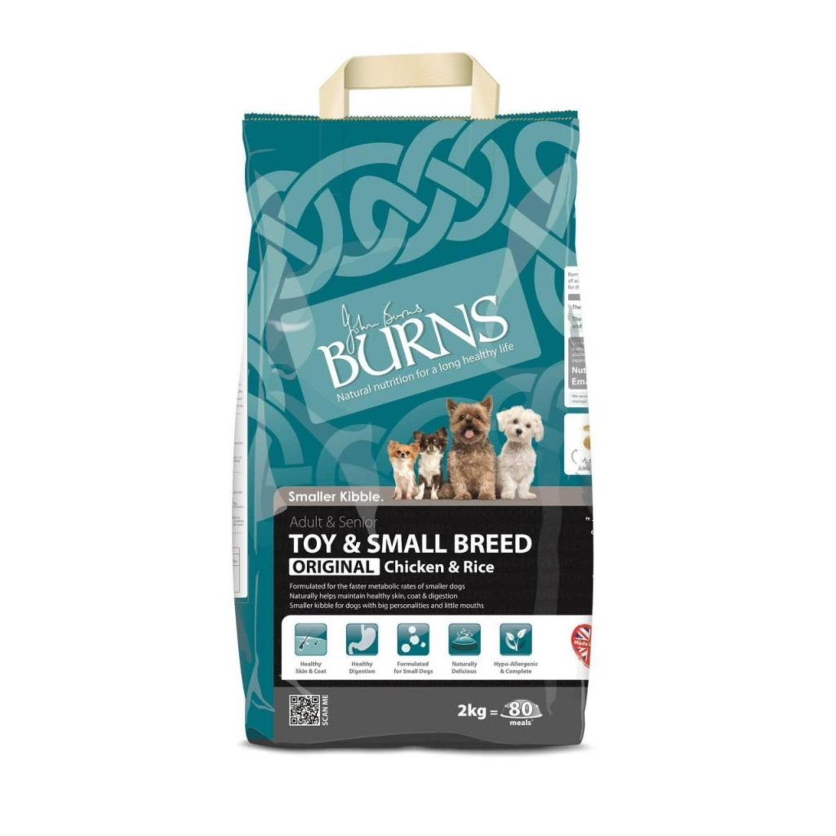 Burns Toy & Small Breed Dog Food, Chicken & Rice 2kg