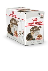 Royal Canin Ageing 12+ Senior Cat Wet Food Pouch with Gravy, 85g, box of 12
