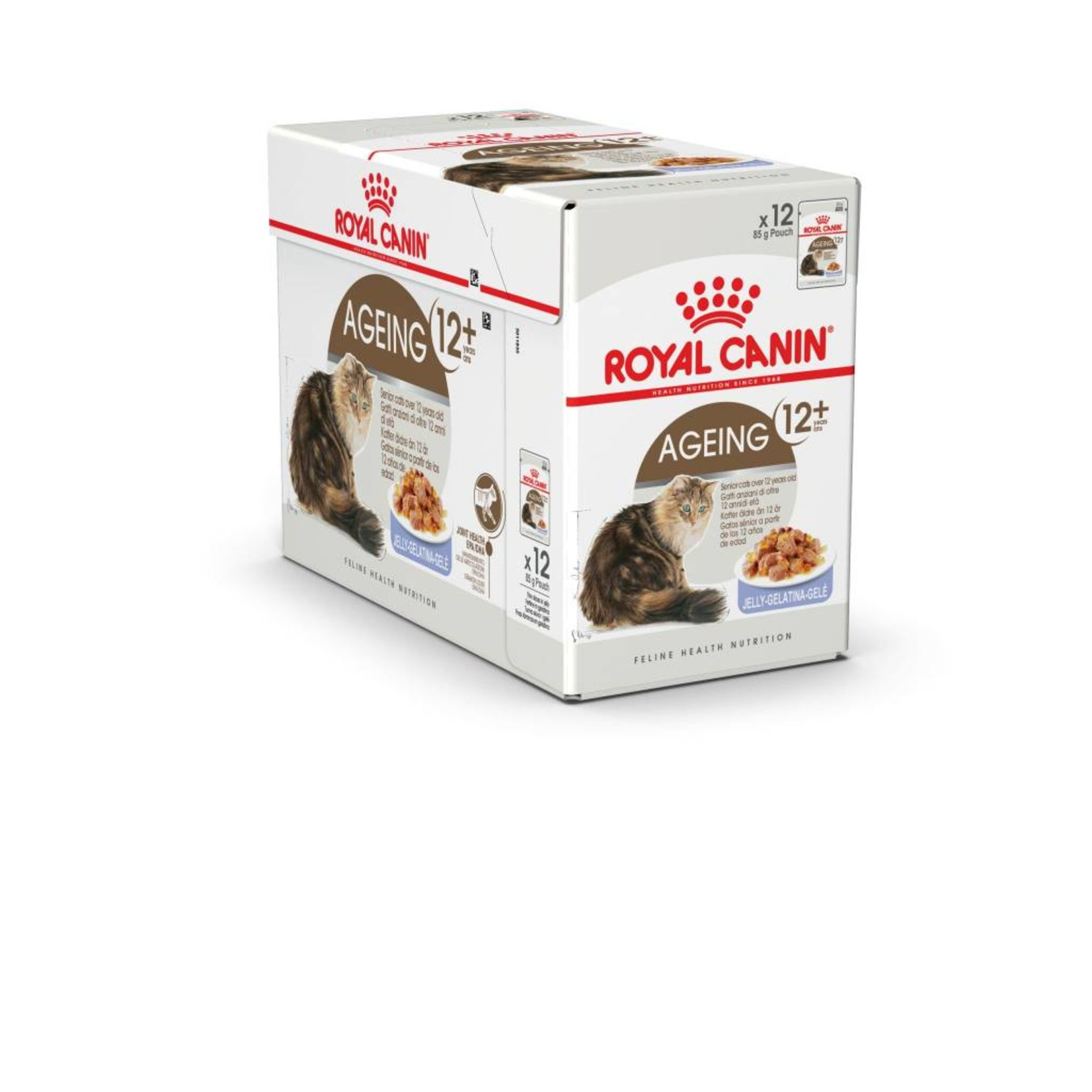 Royal Canin Ageing 12+ Senior Cat Wet Food Pouch with Jelly, 85g, box of 12
