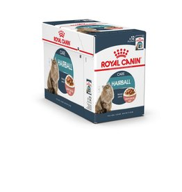 Royal Canin Feline Hairball Care Pouch in Gravy Wet Cat Food 85g, Box of 12