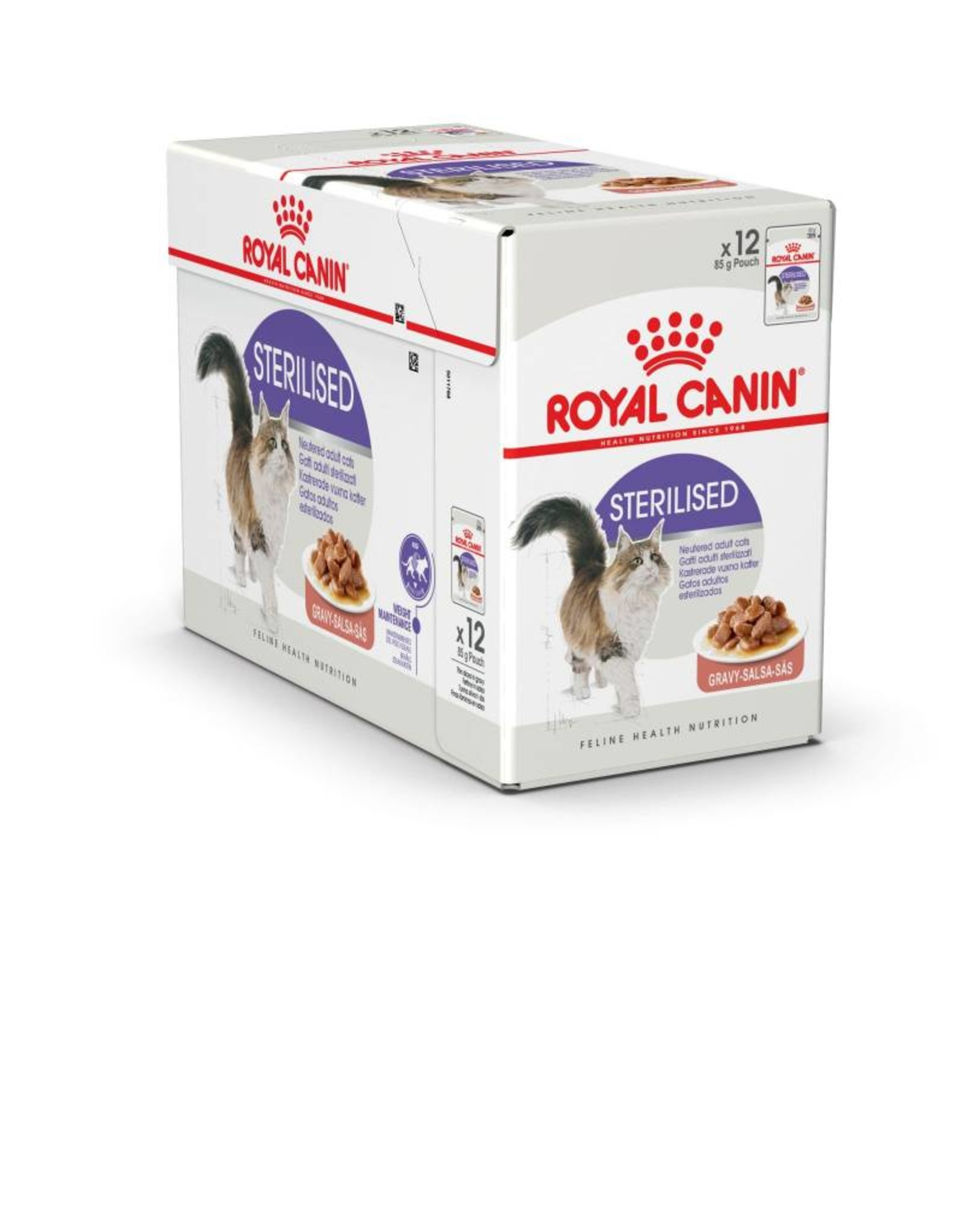 Royal Canin Sterilised Adult Cat Wet Food Pouch in Gravy, 85g, box of 12
