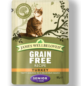 James Wellbeloved Cat Senior Grain Free Wet Food Pouch Turkey 85g