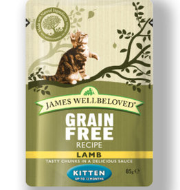James Wellbeloved Kitten Grain Free Wet Food Pouch Lamb 85g