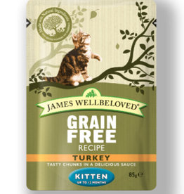 James Wellbeloved Kitten Grain Free Wet Food Pouch Turkey 85g