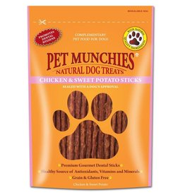 Pet Munchies 100% Natural Dog Treats Chicken & Sweet Potato Sticks 90g