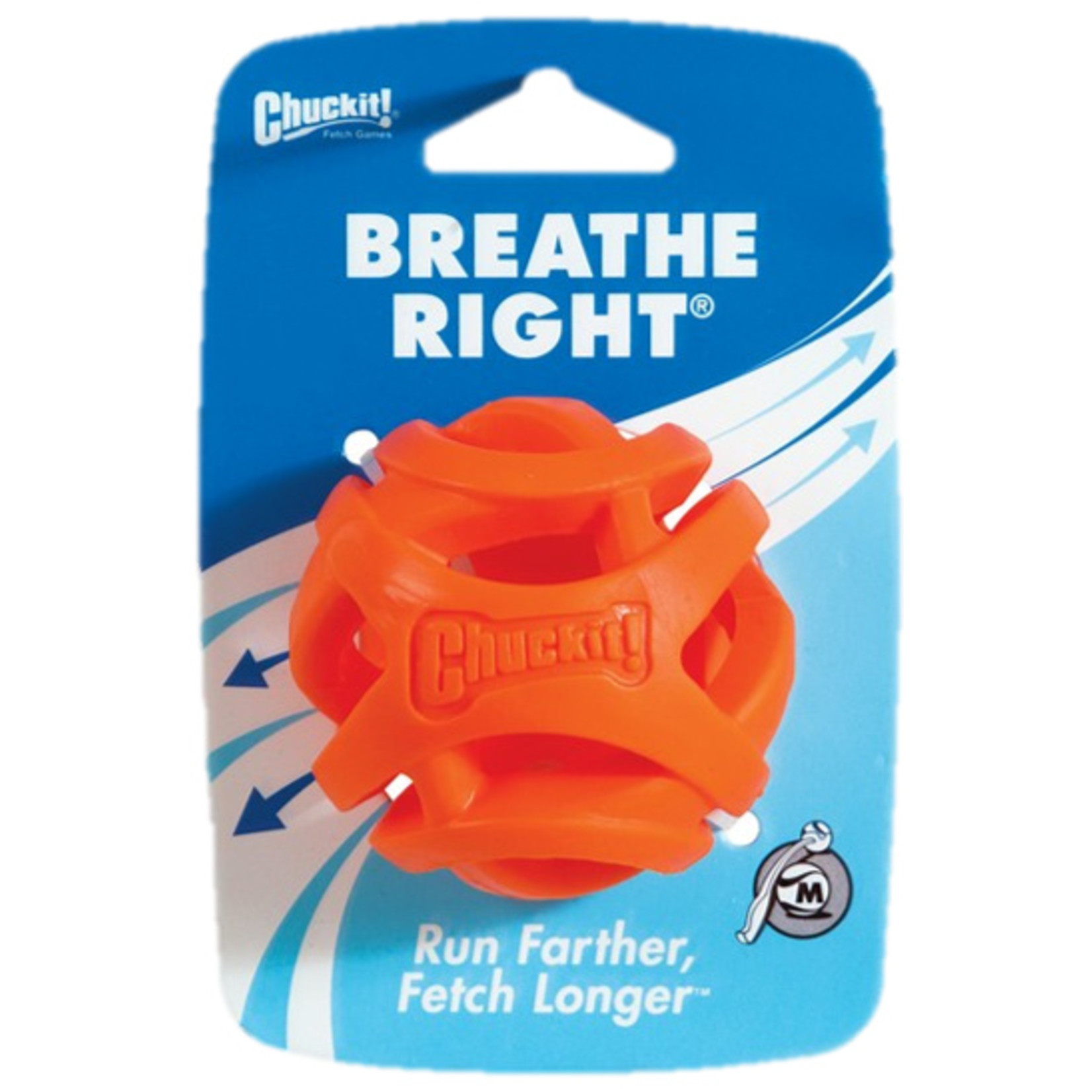 Chuckit! Breathe Right Fetch Ball Dog Toy, Medium 5.5cm