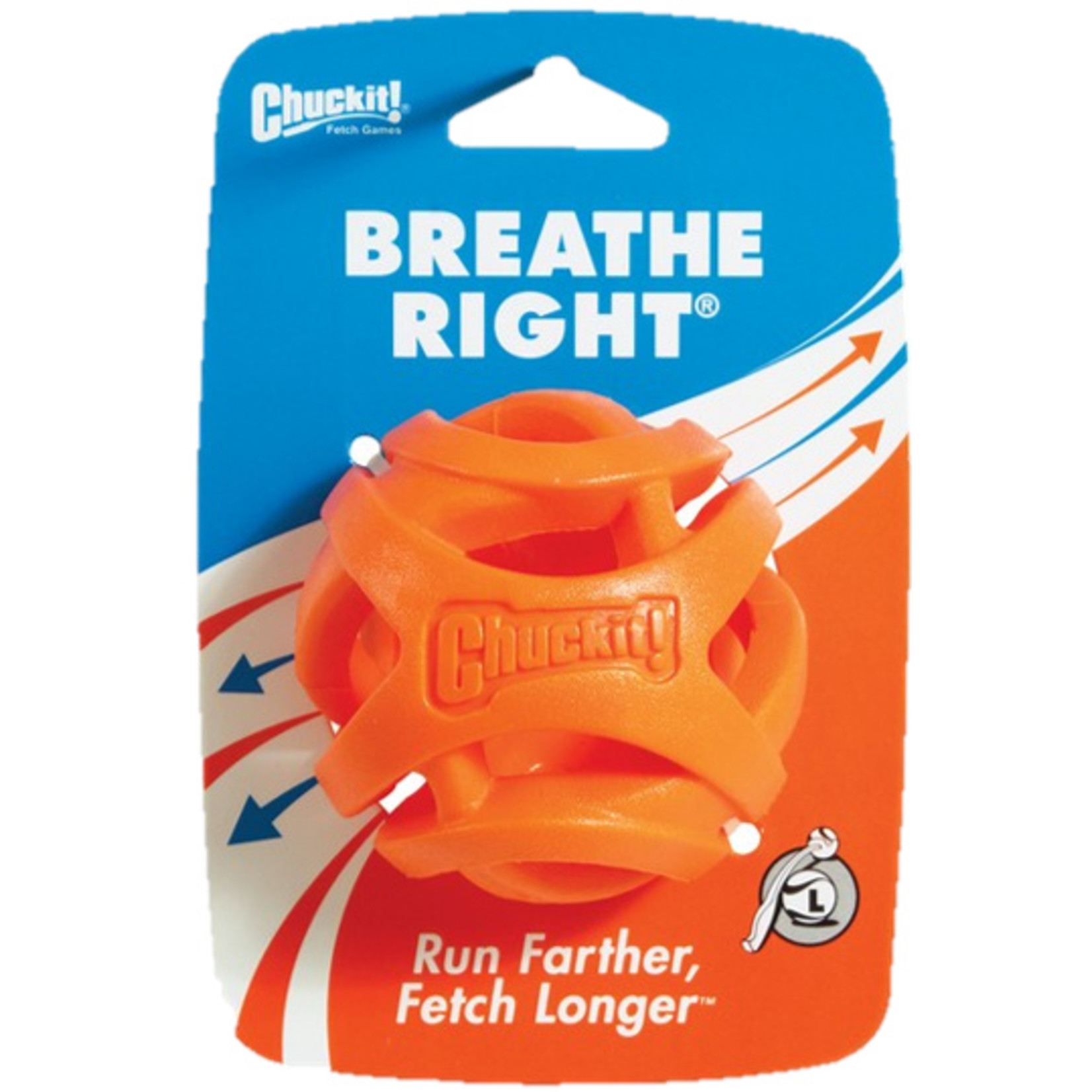 Chuckit! Breathe Right Fetch Ball Dog Toy, Large 6.5cm