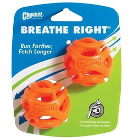 Chuckit Breathe Right Fetch Ball Dog Toy, Small 2 Pack 4.8cm