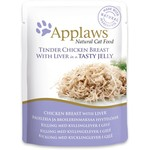 Applaws Cat Wet Food Pouch Chicken with Liver in Jelly, 70g