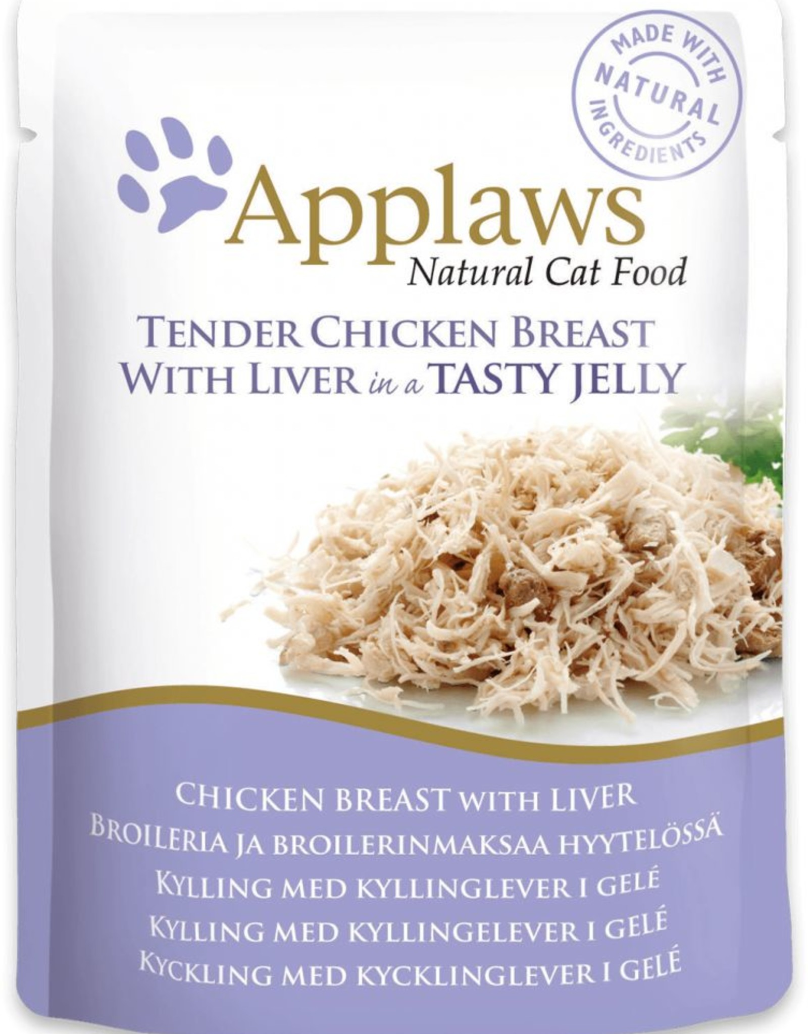 Applaws Cat Wet Food Pouch Chicken with Liver in Jelly 70g
