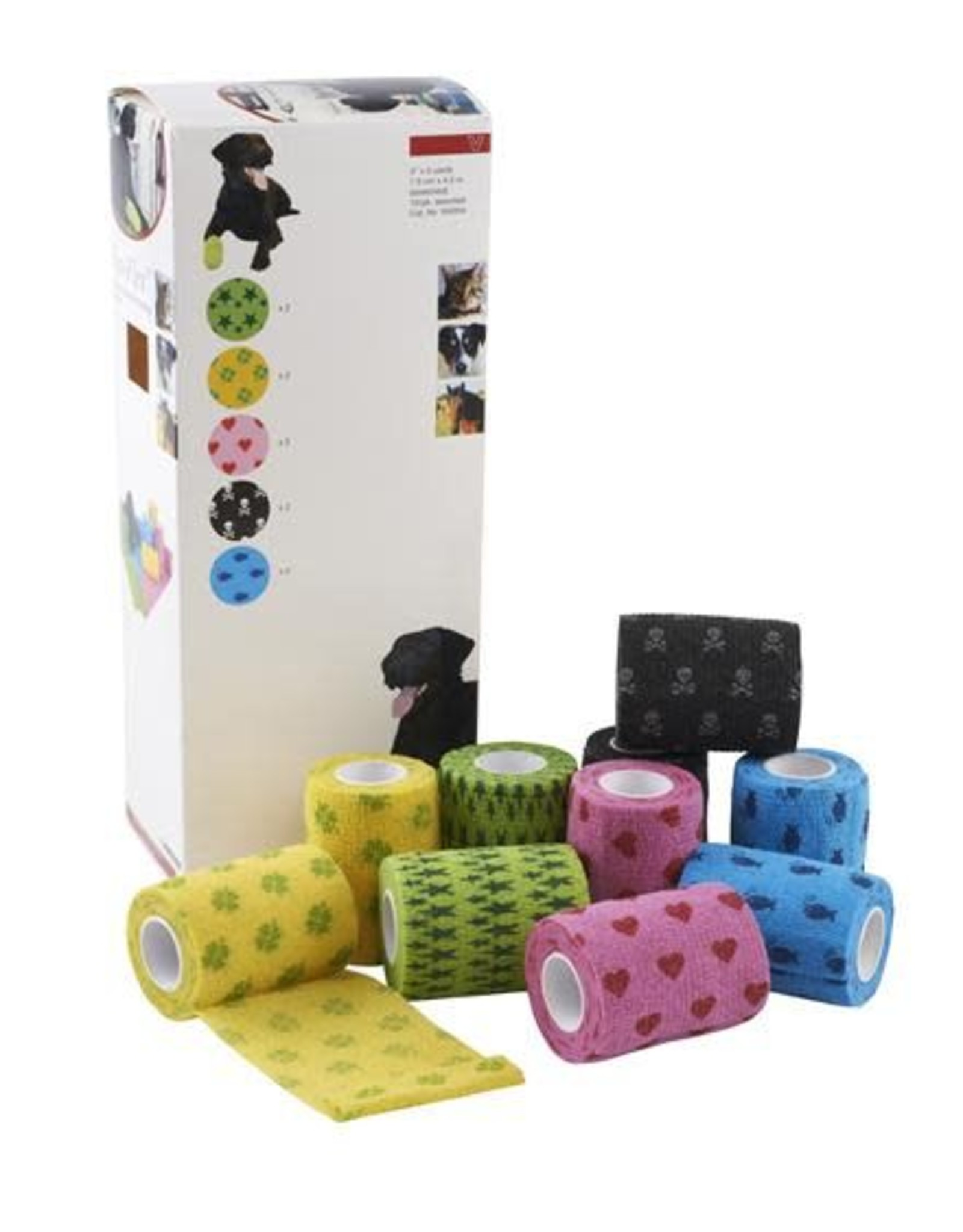 Kruuse Fun-Flex Self-adhesive Lightweight Pet Bandage 10cm
