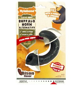 Nylabone Extreme Chew Horn Bison Dog Chew Toy