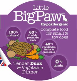 Little BigPaw Tender Duck & Vegetable Dinner for Small & Toy Dogs 8 x 85g