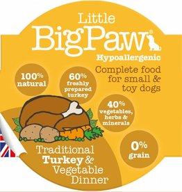 Little BigPaw Traditional Turkey & Vegetable Dinner for Small & Toy Dogs 8 x 85g