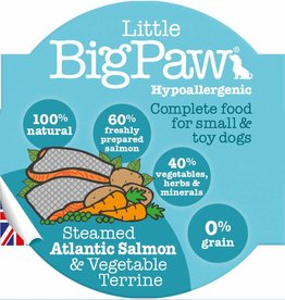 Little BigPaw Steamed Atlantic Salmon & Vegetable Terrine Small Breed Dog Wet Food, 85g