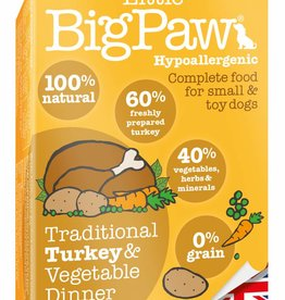 Little BigPaw Traditional Turkey & Vegetable Dinners for Small & Toy Dogs 150g