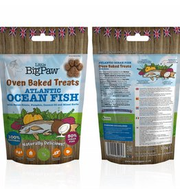 Little BigPaw Oven Baked Atlantic Ocean Fish Treats for Dogs 130g