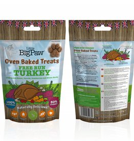 Little BigPaw Free Run Oven Baked Turkey Treats for Dogs 130g