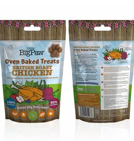Little BigPaw British Roast Chicken Oven Baked Treats for Dogs 130g