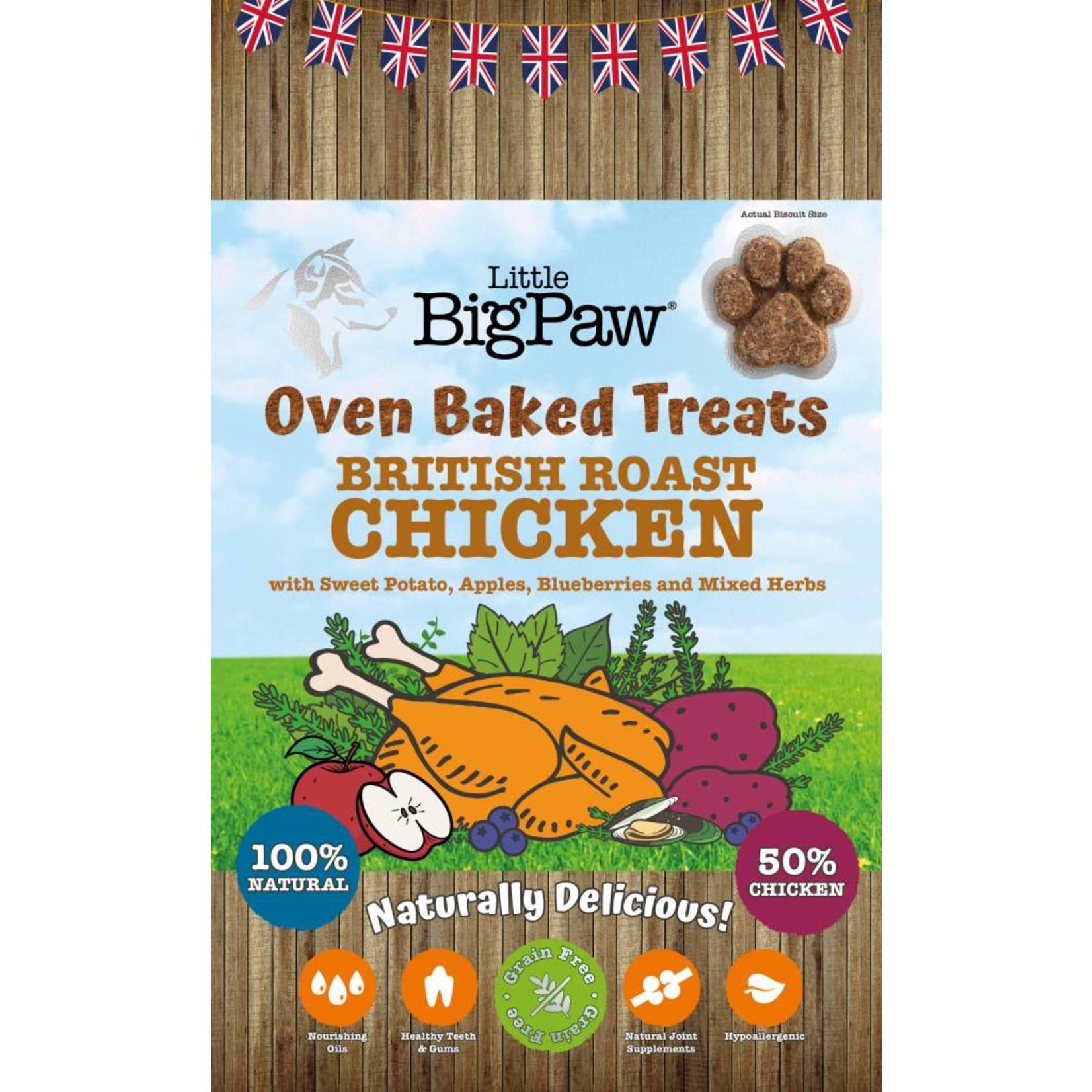 Little BigPaw Oven Baked British Roast Chicken Dog Treats, 130g