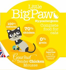 Little BigPaw Gourmet Tender Chicken Mousse Cat Wet Food, 85g