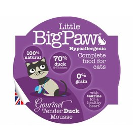 Little BigPaw Gourmet Tender Duck Mousse Cat Wet Food, 85g