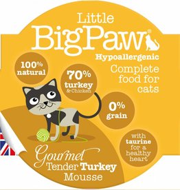 Little BigPaw Gourmet Tender Turkey Mousse Cat Wet Food, 85g