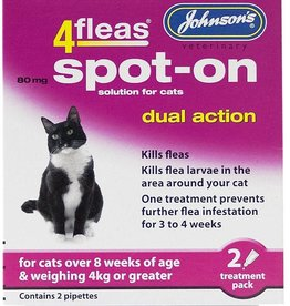 Johnsons 4fleas Dual Action Spot-on for Cats Over 4kg