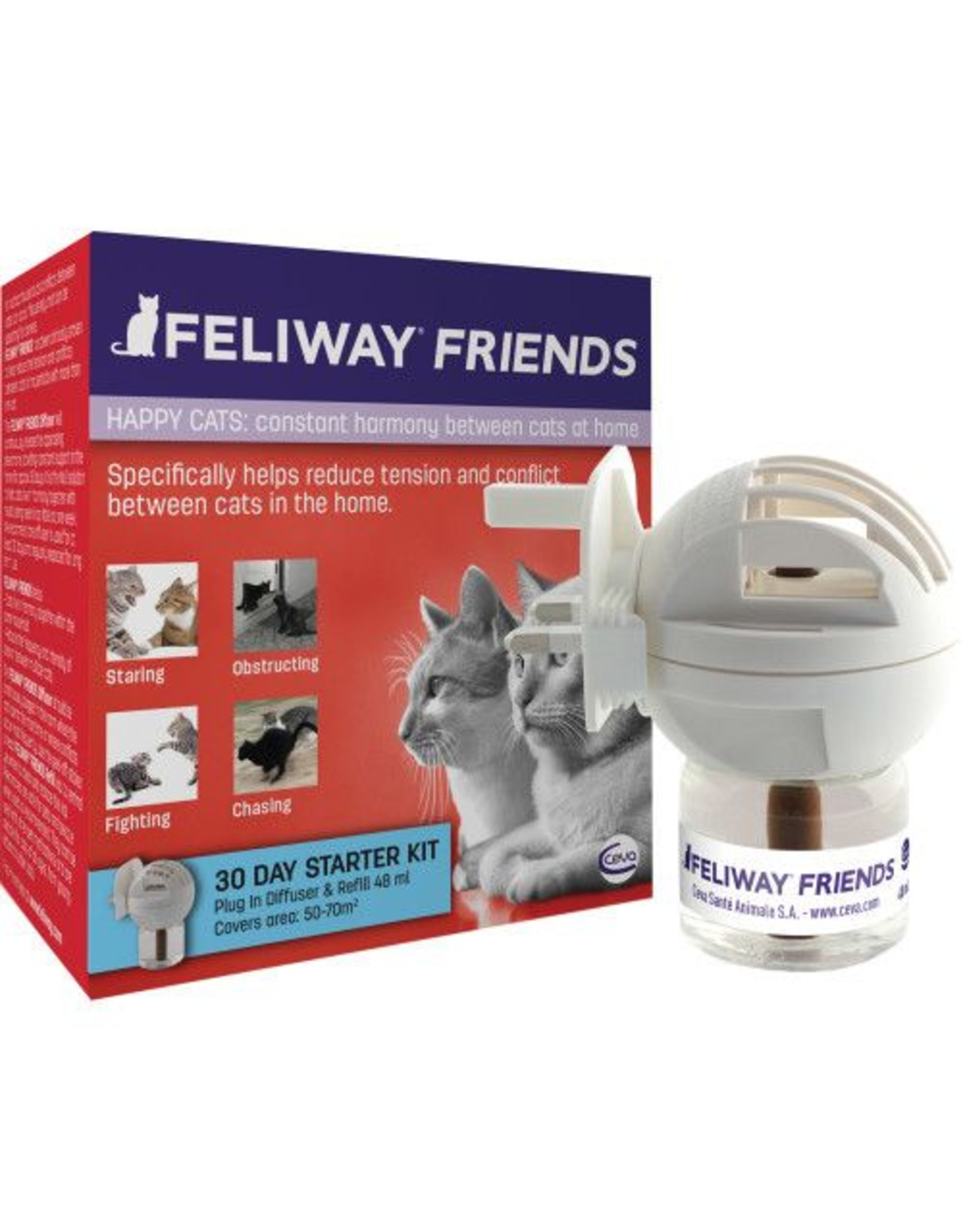 Feliway Friends Happy Cats Diffuser Starter Pack, 48ml    *CLEARANCE