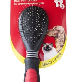 Mikki Ball Pin Slicker Grooming Brush for Sensitive Skin