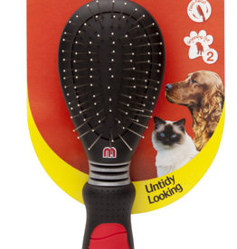 Mikki Combi Dual Sided Grooming Brush for Short & Medium Coats