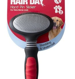 Mikki Grooming Hard Pin Slicker for Thick Coats