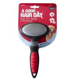 Mikki Hard Pin Slicker for Grooming Thick & Dense Coats