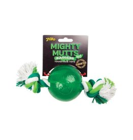 Mighty Mutts Mint Ball with Rope