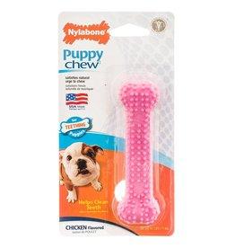 Nylabone Puppy Dental Chicken Pink Dog Chew Toy, X Small