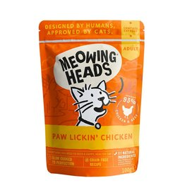 Meowing Heads Paw Lickin' Chicken Adult Cat Wet Food, 100g