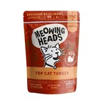 Meowing Heads Top Cat Turkey Adult Cat Wet Food, 100g