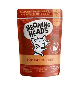Meowing Heads Top Cat Turkey 100g, Wet Cat Food