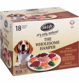 HiLife It's Only Natural The Wholesome Hamper Wet Dog Food Pouch, 18 x 100g