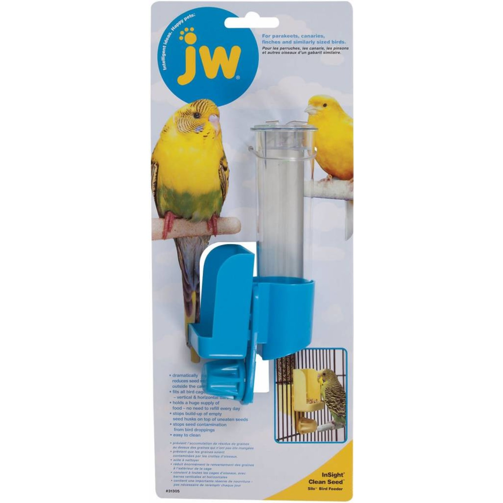 JW Clean Seed Silo Cage Bird Feeder