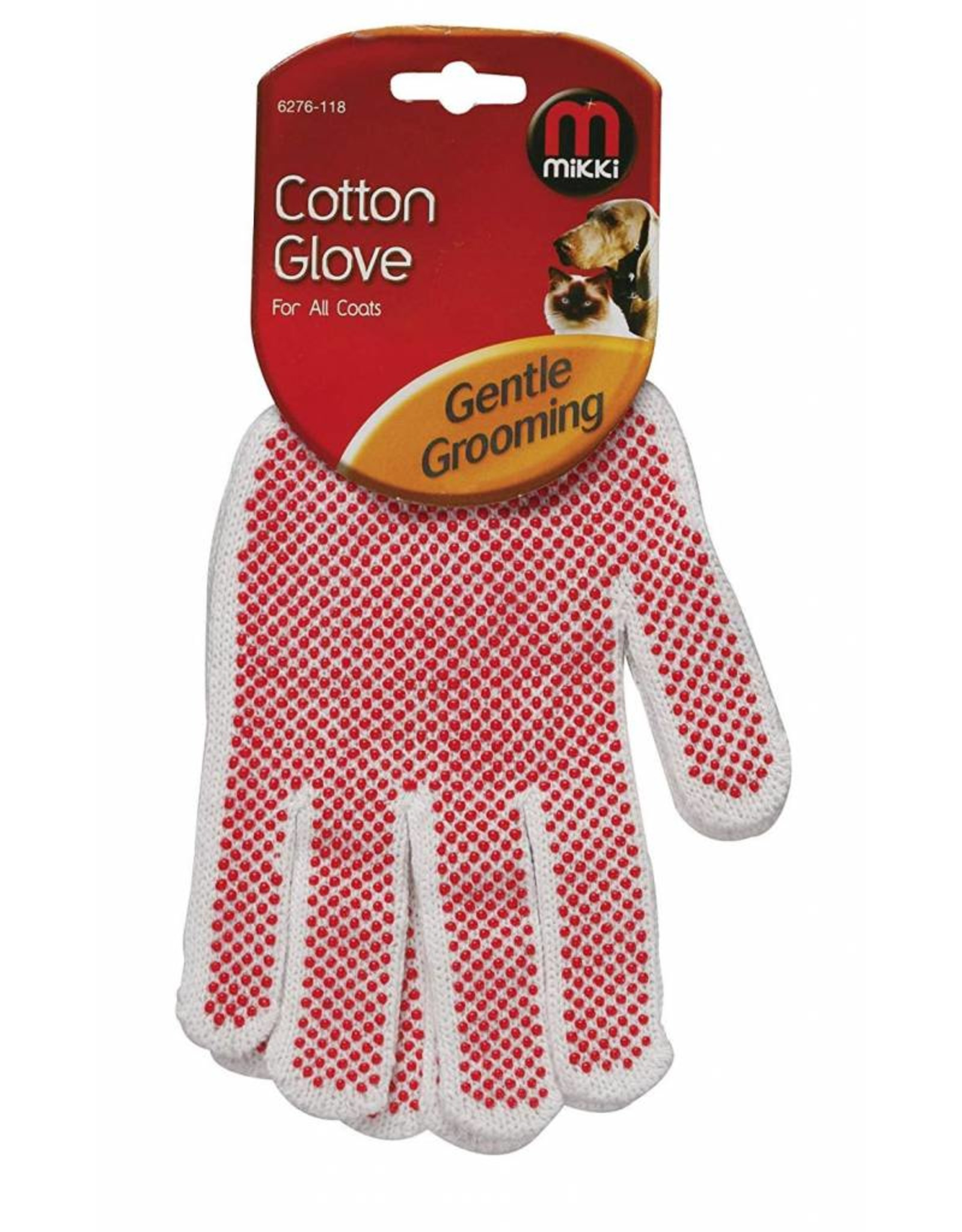 Mikki Cotton Glove for grooming all Coats